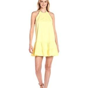 Rebecca Taylor Cotton Tank Dress in Citron